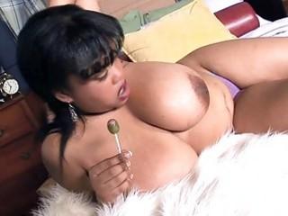 mega breasted ebon mother i shows off her