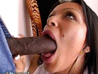 white lacy stocking clad milf has an interracial