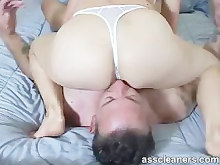 in a sixty-nine position for ass munching and