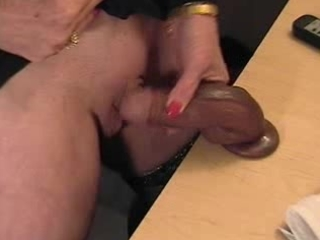 pervert dilettante granny with massive clit