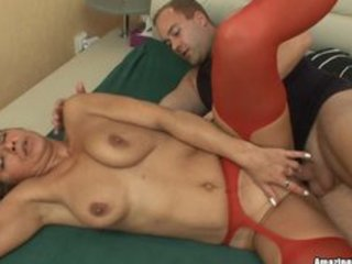sexy milf on spooning position after sucking