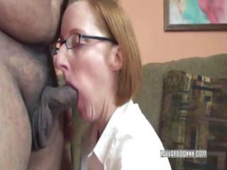 mature layla in a short petticoat and sucking a