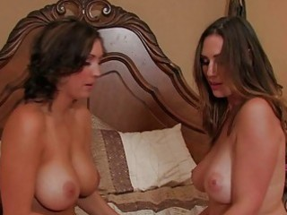 breasty tanned brunette mother i lesbos licking