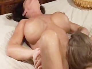 Milf squirts all over her young face