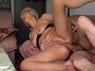 older blonde gets pumped