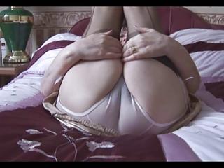 granny in her underware and stockings