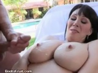 mother i gets cum all over her large tits