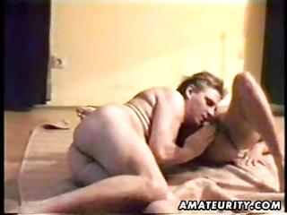 aged amateur wife sucks and fucks with jizz flow