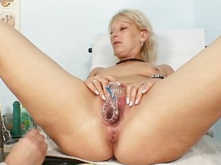 obscene granny doxy acquires her recturm examined