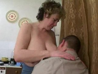 older russian seduces chunky lad
