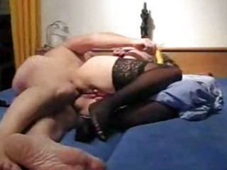 Mature amateur wife toys her ass and gets fucked