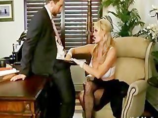 Busty Boss Sucks Cock In Her Office
