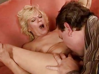 lewd granny masturbating and fucking