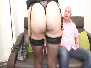 soisic a french older screwed in a threesome