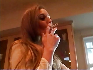 Mom in the kitchen (smoking fetish  roleplay,