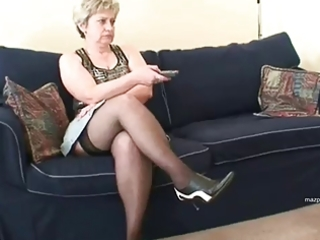 mother in nylon nylons