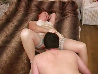 Mature mistress - licking her feet, ass &;