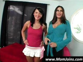sexy dark brown mama and daughter team shelia