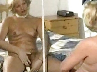 hairy aged slow tease and dildo play