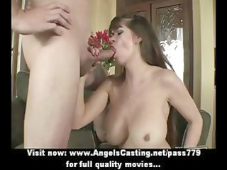 Badass milf does blowjob for young guy and has