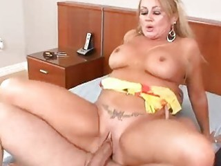 mature golden-haired can his sexy cum