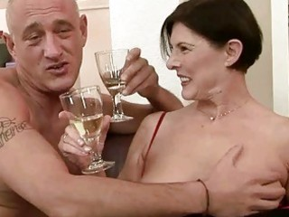 wicked granny acquires her hairy snatch drilled