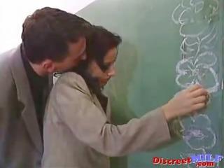 sexy teacher acquire fucked hard in classroom