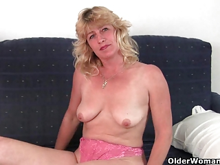 fuckable grandma widens her old pussy wide