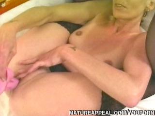 older golden-haired anal fucked