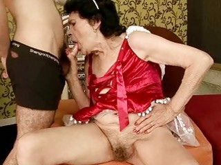 very old granny gets drilled by a chap