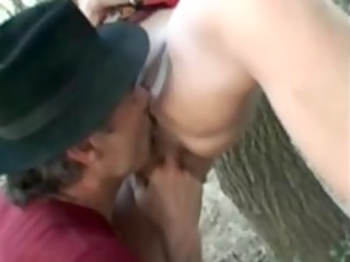 gipsy bitch analfucked in the woods