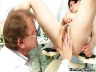 aged mama receives her unshaved twat examed part5