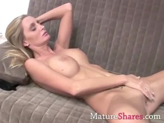 slim golden-haired matre with biggest tits