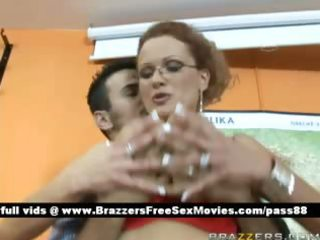 mature breasty blonde teacher at school gets a