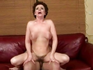 breasty grandma fucking with her youthful lover