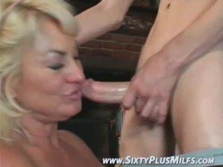 Fine blonde grandma eager to fuck