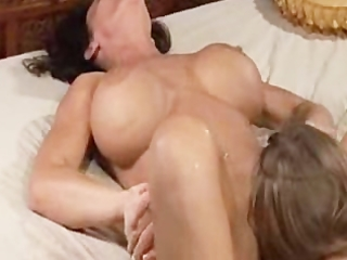 mama squirts allk over her daughter many times