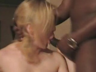 Mature white wife fucked by 3 bbcs.  cuckold