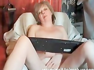 80 years granny louise fingering at home