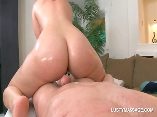 large a-hole playgirl jumps and tugs her masseurs