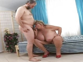 huge grandmother sucking fortunate old dong