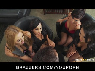 four sexy breasty asian strumpets in hot fuckfest