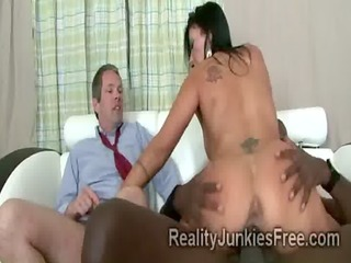 perv watches gorgeous wife getting pumped hard by