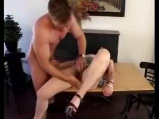 mature brunette hair munches on his weenie and