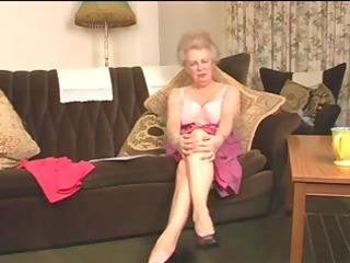 delightful bushy old granny fingering intro
