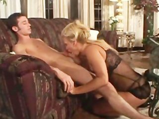 youthful chap with mature cougar
