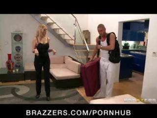 Big-tit milf pornstar julia ann massaged then