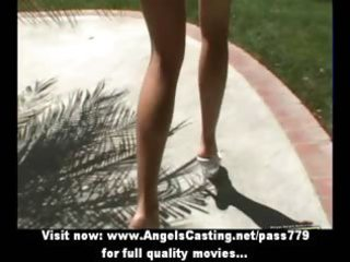 blond mother i with laptop toying pussy and