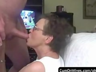 Facial cumpilation with real amateur wives