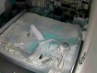 Night time hidden cam caught my mum masturbating
